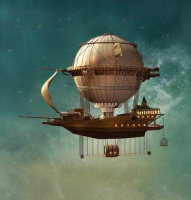 Canvastavlor Steam fantasi luftskepp