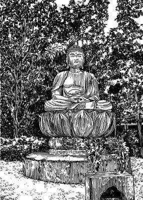 Canvastavlor sten Buddha