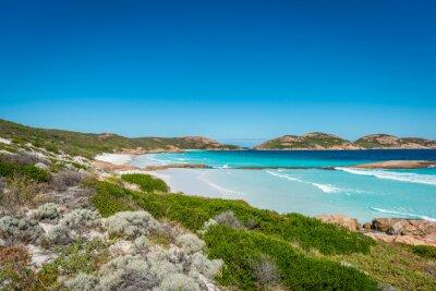 Canvastavlor Stenar på stranden, lyckliga Bay, Esperance, Western Australia