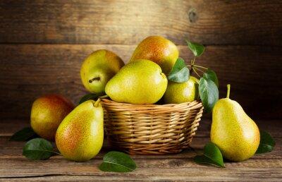 Canvastavlor stilleben med färska päron