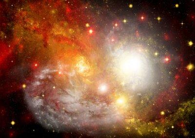 Canvastavlor Stjärn fält i rymden och en nebulosor