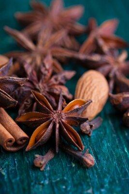 Canvastavlor Stjärnanis, kanel, kryddnejlika och mandel