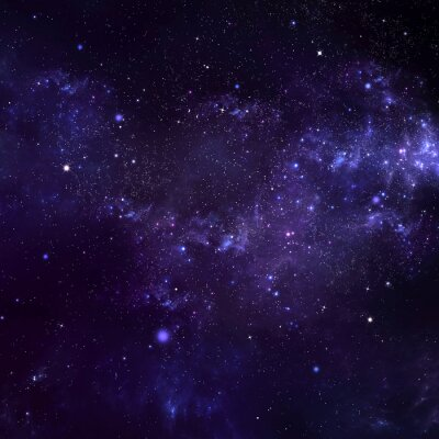 Canvastavlor stjärnklara natthimlen