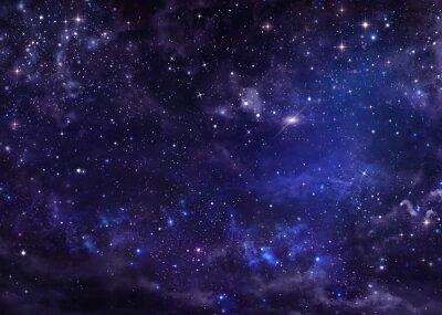 Canvastavlor stjärnklara natthimlen djupa rymden