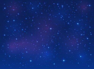 Canvastavlor Stjärnor på blå himmel bakgrund