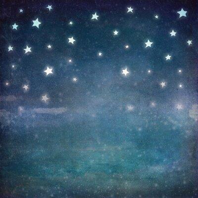 Canvastavlor Stjärnor på natten grunge sky, bakgrund