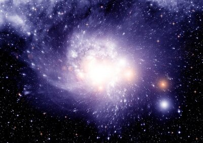 Canvastavlor Stjärnor, stoft och gas nebulosa
