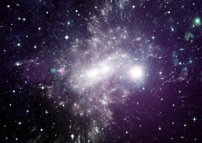 Canvastavlor Stjärnor, stoft och gas nebulosa i en långt galax