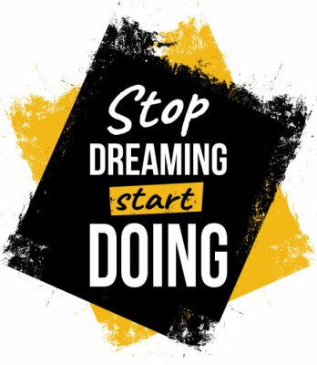 Canvastavlor Stop dreaming, start doing. Motivational quotes.