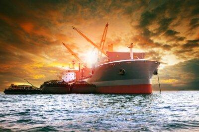 Canvastavlor stor containerlastlastningsindustri produkt för logistikverksamhet