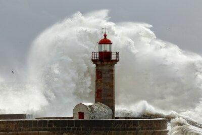 Canvastavlor Stora stormiga vågor