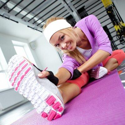 Canvastavlor Stretching musklerna