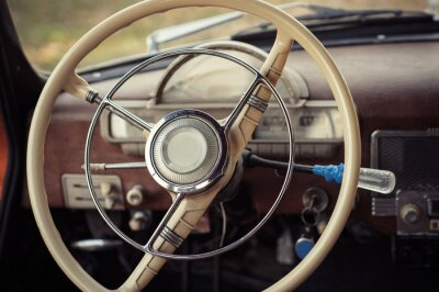 Canvastavlor styrning retro bil