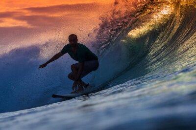 Canvastavlor Surfare på fantastiska Wave