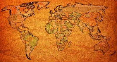 Canvastavlor Surinam territorium på världskartan