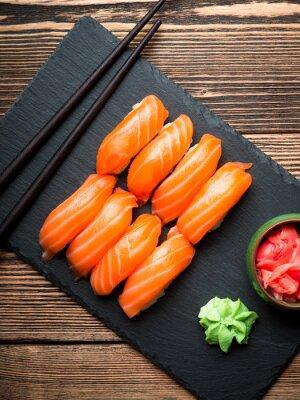 Canvastavlor Sushi med lax