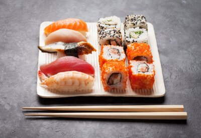 Canvastavlor Sushi och maki uppsättning