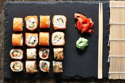 Canvastavlor sushi rullar