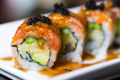 Canvastavlor sushi rulle