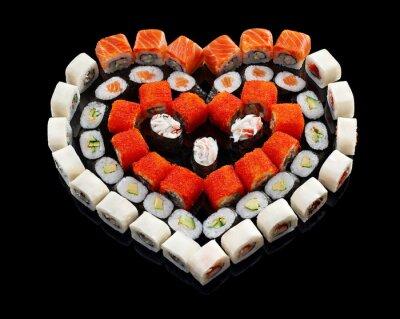 Canvastavlor sushi uppsättning