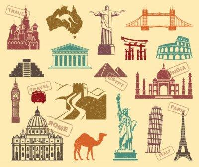 Canvastavlor Symboler för resor