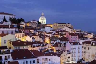 Canvastavlor Syn på Gamla stan i Lissabon i Portugal
