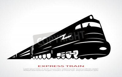 Canvastavlor tåg icon