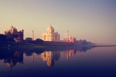 Canvastavlor Taj Mahal Indien sju underverk Begrepp