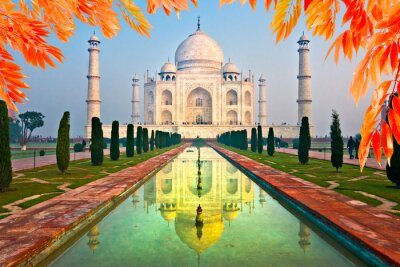 Canvastavlor Taj Mahal på soluppgången, Agra, Uttar Pradesh, Indien.