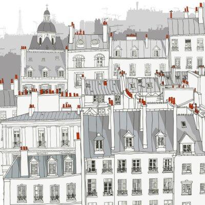 Canvastavlor Tak av Paris