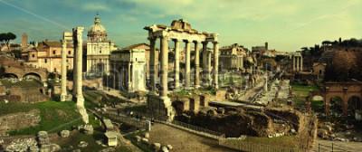 Canvastavlor Tappar vykort med Foro Romano