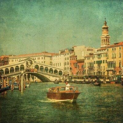 Canvastavlor Tappning avbildar av Canal Grande, Venedig