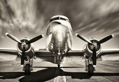 Canvastavlor tappning flygplan