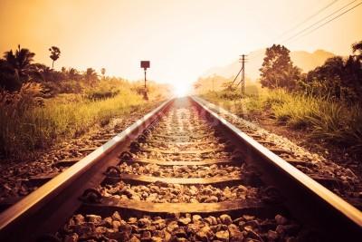 Canvastavlor tappning järnväg