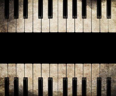 Canvastavlor tappning piano isolerad