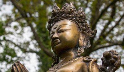 Canvastavlor Tara-huvud, Nepal