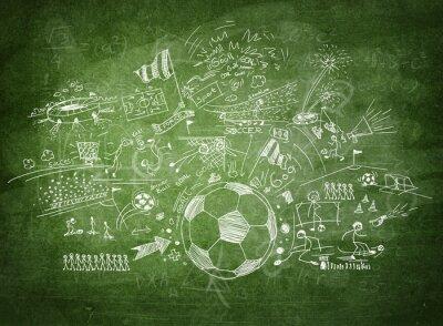 Canvastavlor Tavlan fotboll koncept