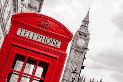 Canvastavlor Telefonkiosk. London, UK