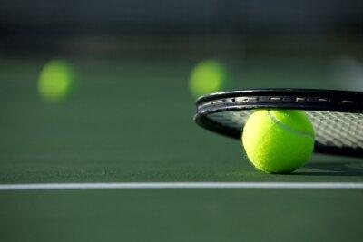 Canvastavlor Tennis klumpa ihop sig och racket