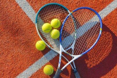 Canvastavlor Tennis, tennisboll, bakgrunder.