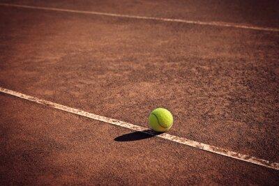 Canvastavlor tennisboll på linjen