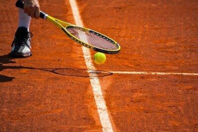 Canvastavlor Tennisracket och gul boll