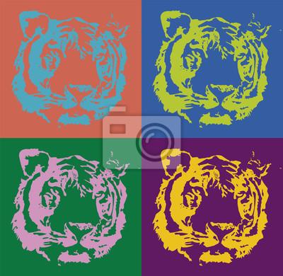 Canvastavlor tiger