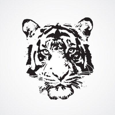 Canvastavlor tigre
