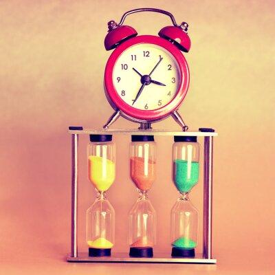 Canvastavlor timglas och väckarklocka