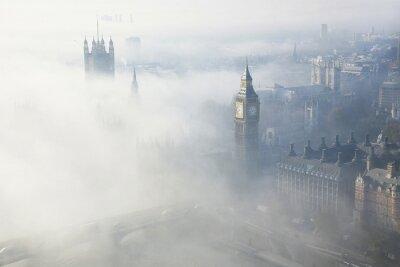 Canvastavlor Tjock dimma träffar London