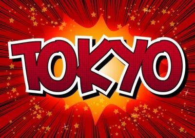 Canvastavlor Tokyo - Humorboken utformar ord.
