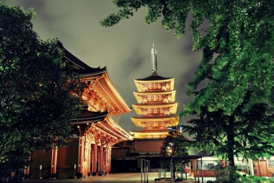 Canvastavlor Tokyo tempel