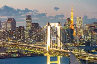Canvastavlor Tokyo Tower Regnbågsbron