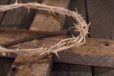 Canvastavlor Törnekrona på ett kors